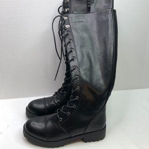 Dirty laundry sz 9 vegan lease up boots w/ zipper